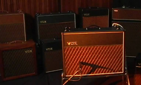 Vox amplifiers on stage
